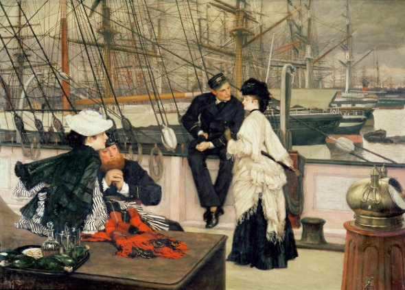 The Captain and the Mate, 1873 (oil on canvas) by Tissot.
