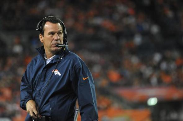 DENVER, CO - AUGUST 29: Denver Broncos head coach Gary Kubiak wasn't happy when the team had to call a timeout on defense in the second quarter of the preseason game against the Arizona Cardinals at Sports Authority Field at Mile High on Thursday, September 3, 2015. (Photo by Steve Nehf/The Denver Post)