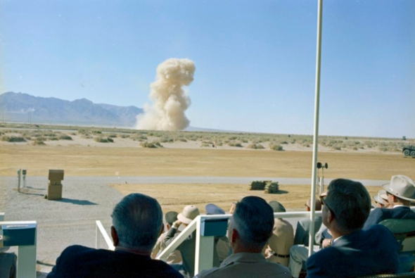 """ST-C206-15-63 05 June 1963 Trip to Western States: White Sands Missile Range, New Mexico Please credit """"Cecil Stoughton. White House Photographs. John F. Kennedy Presidential Library and Museum, Boston"""""""