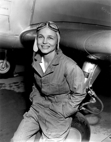 "Mrs. Betty Gillies was the first woman pilot to be ""flight checked"" and accepted by the Women's Auxiliary Ferring Squadron. Mrs. Gillies 33 years of age, has been flying since 1928 and received her commercial license in 1930. She has logged in excess of 1400 hours flying time and is qualified to fly single and multi-engined aircraft. Mrs. Gillies is a member of the Aviation Country Club of Hicksville L.I. and is a charter member of '99, an international club of women flyers formed by Amelia Earhardt in 1929. (U.S. Air Force photo)"