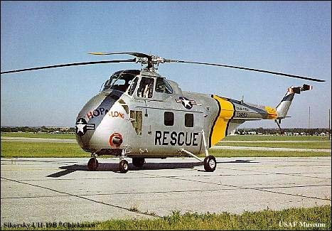 1950's -- An UH-19B Chickasaw at the Air Force Museum. Courtesy photo.