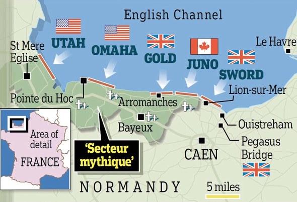 DDay map