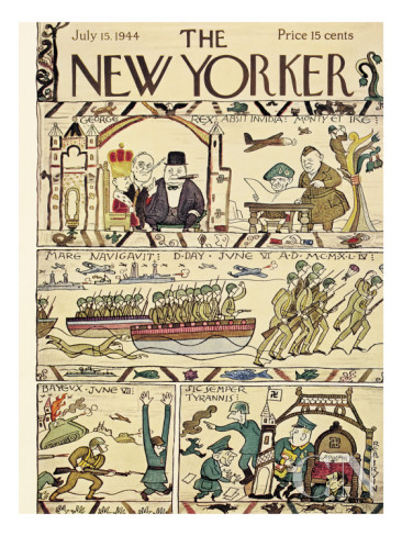 New Yorker's July 15, 1944 parody of the Bayeux Tapestry