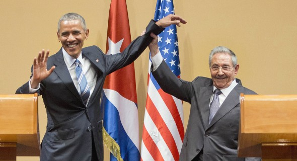 Obama and raul