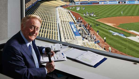 Bryce Duffy/Corbis Outline from http://www.aarp.org/politics-society/history/info-2016/vin-scully-voice-of-the-dodgers.html