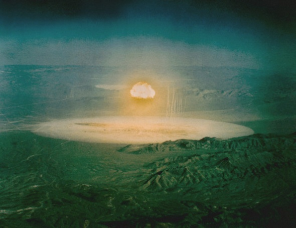 ca. 1951 - 1962, Nevada, USA --- Mushroom Cloud From Nuclear Test --- Image by © CORBIS