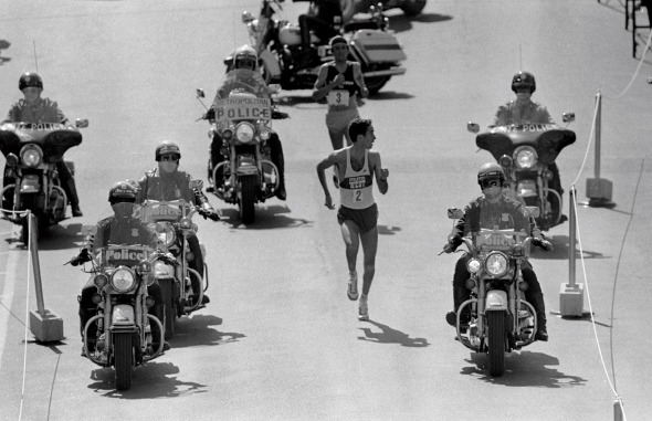 Beardsley vs Salazar in the 1982 Boston Marathon