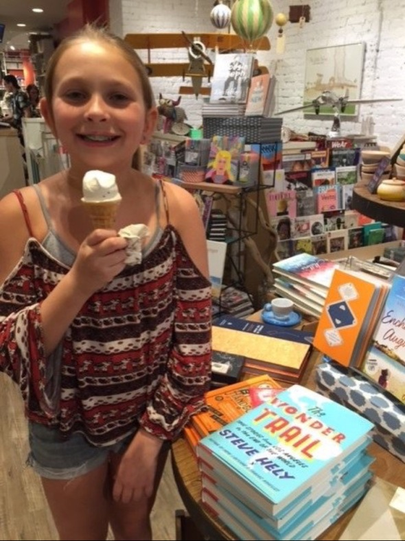 Ice cream and books?!  You kiddin me?!