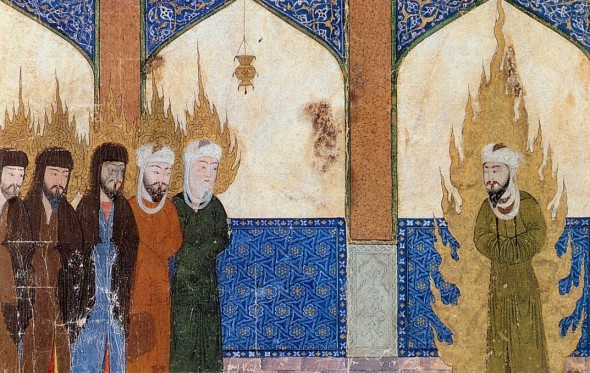 Muhammad leads Abraham, Moses and Jesus in prayer. from medieval Persian manuscript Source: ''The Middle Ages. An Illustrated History'' by Barbara Hanawalt (Oxford University Press, 1998)